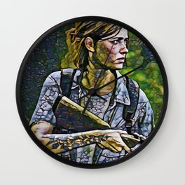 The Last of Us Ellie Artistic Illustration Infected Style Wall Clock