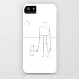 A Girl & Her Robot iPhone Case