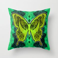 Henna Butterfly No. 4 Throw Pillow