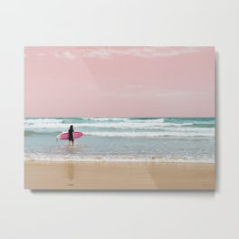 Surfer Heads Out III Metal Print