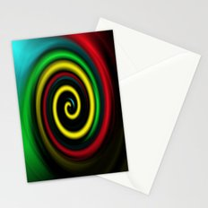Swirling colours. Stationery Cards