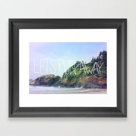 Let's Run Away: Cannon Beach, Oregon Framed Art Print