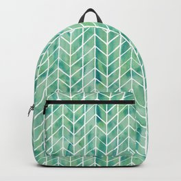 Caribbean green watercolor pattern Backpack
