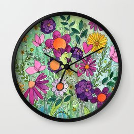 Purple Plum Parfait Wall Clock