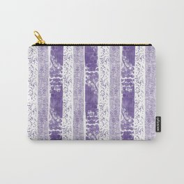 Lilac watercolor paint brushstrokes confetti stripes Carry-All Pouch