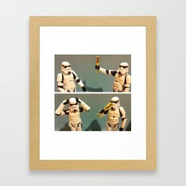 A Toast to Quitters Framed Art Print