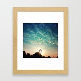 Windmill Sunrise Framed Art Print