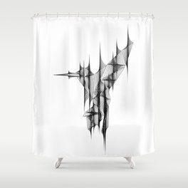 """""""Abstract Collection"""" - Humming bird Shower Curtain"""