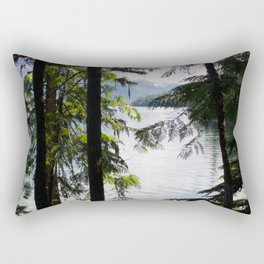 Lakeside trees Rectangular Pillow