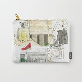 Shopping in paris Carry-All Pouch