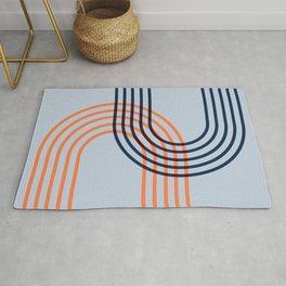 Counterbalance - orange blue Rug