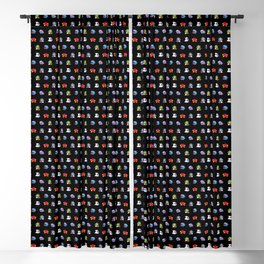 Bubble Bobble Retro Arcade Video Game Pattern Design Blackout Curtain