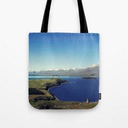 She felt tiny in Lake Tekapo Tote Bag