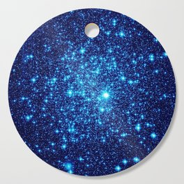 Vivid Blue gALaxY Stars Cutting Board