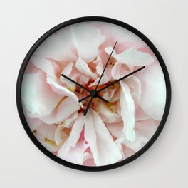 Feathery Rose Wall Clock