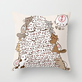 Cat Tower Throw Pillow