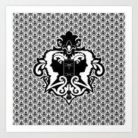 Detective's Damask Art Print