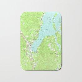 Vintage Map of Lake George New York (1966) 2 Bath Mat