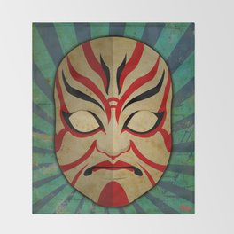 Kabuki Mask Throw Blanket