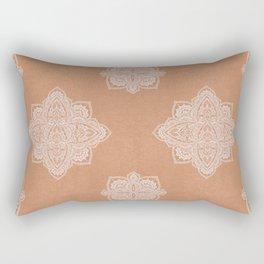 Modern boho terracotta floral mandala oriental pattern Rectangular Pillow