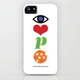 Eye Love P Ball Rebus #2 iPhone Case