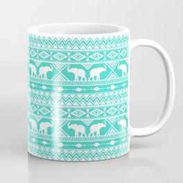 Elephant Tribal Mint Coffee Mug