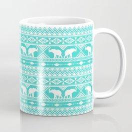 Elephant Tribal Mint Coffee Mug