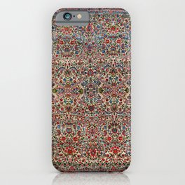 South Persia 19th Century Authentic Colorful Red Pink Blue Vintage Patterns iPhone Case