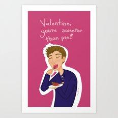 Dean Winchester Valentine's Day Card Art Print
