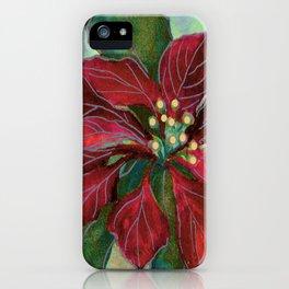 poinsettia wax batik iPhone Case