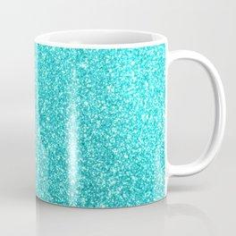 Aqua Blue Glitter Coffee Mug