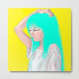 neon hair Metal Print