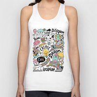 notebook Tank Tops featuring Everyday by Anna Alekseeva kostolom3000