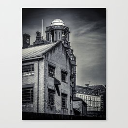 Manchester in Black and White Canvas Print