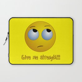 Give me strength!!! emoji T-shirt Laptop Sleeve