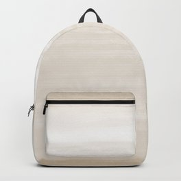 Daybreak Beige Greige Tan - Abstract Art Series Backpack