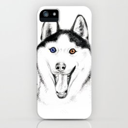 Smiling Husky iPhone Case