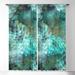 Mermaid Scales Blackout Curtain