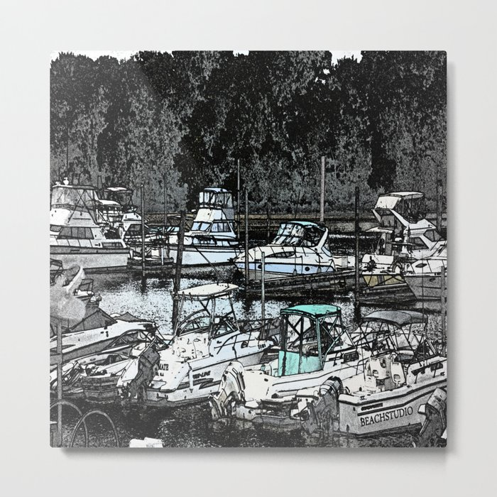 all Boats in a Row Metal Print