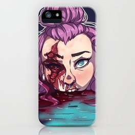 Ravaged in Pink iPhone Case