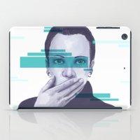 data iPad Cases featuring Data Stream by Haily Gwynn Shaw