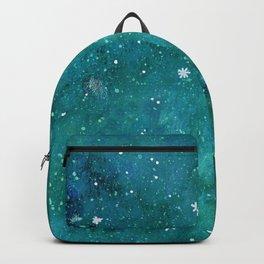 Watercolor galaxy - teal Backpack
