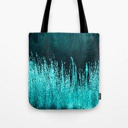 Grasses Aqua Tote Bag