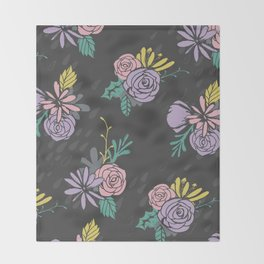 Flora Over Fauna Throw Blanket