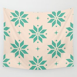 Poinsettia Pattern Christmas Ornament Wall Tapestry