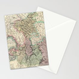 Vintage Map of Austria (1801) Stationery Cards