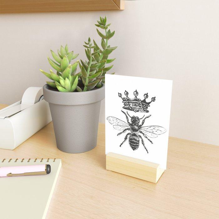 Queen Bee | Black and White Mini Art Print