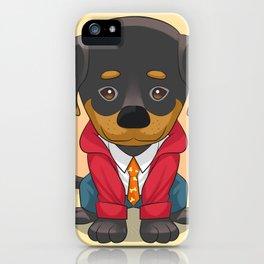 Rottweiler Pup iPhone Case