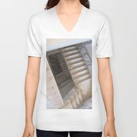 escher V-neck T-shirts featuring Escher by KMZphoto