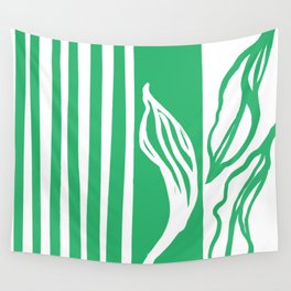 Long Leaf Stripe green Wall Tapestry